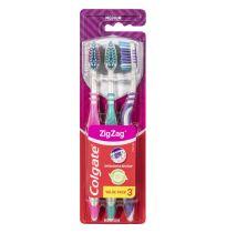 Colgate Toothbrush Zig Zag Adult 3 Pack Medium