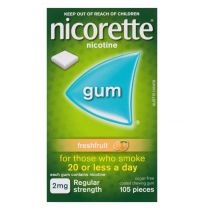 Nicorette Gum 2mg Fresh Fruit 105 Pack