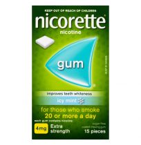 Nicorette Gum 4mg Icy Mint 15 Pack