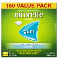 Nicorette Gum 4mg Icy Mint 150 Value Pack