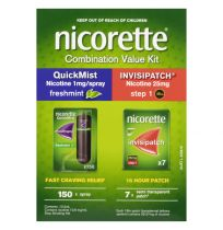 Nicorette Combo Value Kit (Quick Mist And Invisipatch)