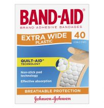 Band Aid Adhesive Strips Extra Wide 40 Pack