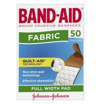 Band Aid Adhesive Bandages Fabric 50 Pack