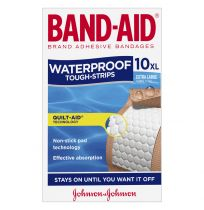 Band Aid Tough Strips Waterproof Extra Large 10 Pack