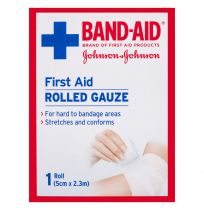Band Aid First Aid Gauze Rolled 2.3M