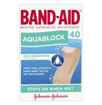 Band Aid Brand Aquablock Waterproof Strips 40 Pack