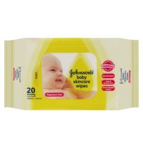 Johnson's Baby Wipes Skincare Fragrance Free 20 Wipes