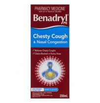Benadryl PE Cough Liquid Chesty Cough & Nasal Decongestant 200ml