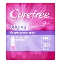 Carefree Liners Shower Fresh Folded & Wrapped 30 Pack