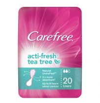 Carefree ActiFresh Liners Tea Tree 20 Pack