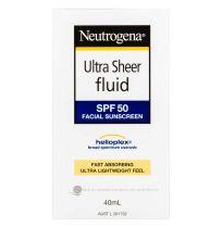 Neutrogena Ultra Sheer Fluid SPF50+ Sunscreen 40ml