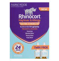 Rhinocort 64Mcg Nasal Spray 120 dose x 2 Pack