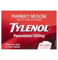 Tylenol Paracetamol 500mg 100 Pack