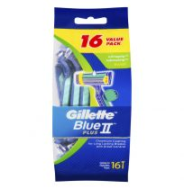 Gillette Blue II UltraGrip Pivot Disposable Shaving Razor 16 Pack