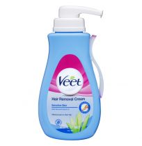 Veet Hair Removal Cream for Sensitive Skin Aloe Vera & Vitamin E 400ml