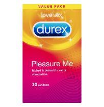 Durex Pleasure Me Condoms Ribbed Dotted 30 Pack