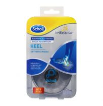 Scholl In-Balance Heel Orthotic Insole Medium Size 7 - 8.5