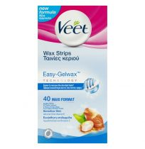 Veet Wax Strips With Easy Grip Sensitive Skin 40 Maxi Pack