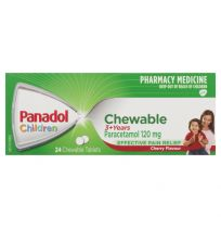 Panadol Children 3+ Years Cherry Flavour Chewable 24 Tablets