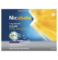 Nicabate Gum 4mg 200 Pack