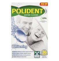 Polident Denture Cleanser Whitening 36 Tablets