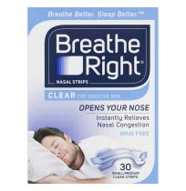 Breathe Right Nasal Strips Clear Small/Medium Strips 30 Pack