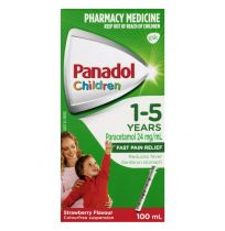 Panadol Children 1-5 Years Strawberry Suspension 100ml