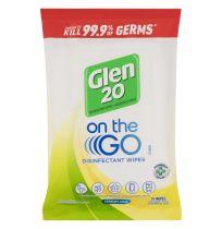 Glen 20 On The Go Disinfectant Wipes Lemon Lime 15 Wipes