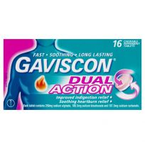 Gaviscon Dual Action Tablets Chewable 16 Pack