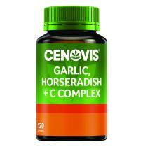 Cenovis Garlic & Horseradish + C Complex 120 Capsules
