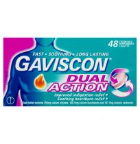 Gaviscon Dual Action Tablets Chewable 48 Tablets