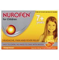 Nurofen For Children Chewable Orange Flavour 12 Pack