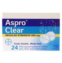 Aspro Clear Regular Strength 300mg 24 Pack