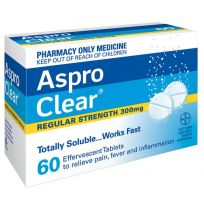 Aspro Clear Regular Strength 300mg 60 Pack
