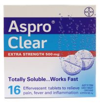 Aspro Clear Extra Strength 500mg 16 Pack