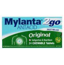 Mylanta 2Go Antacid Original Chewable 24 Tablets