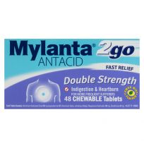 Mylanta 2Go Antacid Double Strength Chewable 48 Tablets