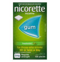Nicorette Gum 2mg Freshmint 105 Pack