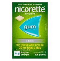 Nicorette Gum 2mg Classic 105 Pack