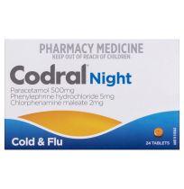 Codral PE Nightime Cold & Flu 24 Tablets