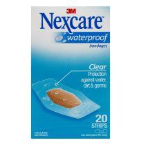 Nexcare Waterproof Bandages Strips Medium 20 Pack