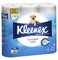 Kleenex Toilet Tissue Paper White 9 Pack
