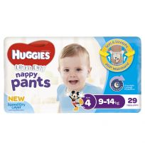 Huggies Ultra Dry Nappy Pants Boys Size 4 29 Pack