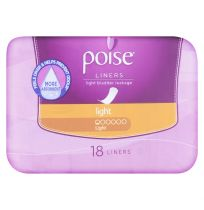 Poise Liners Light 18 Pack