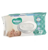 Huggies Baby Wipes Fragrance Free 80 Pack Refill