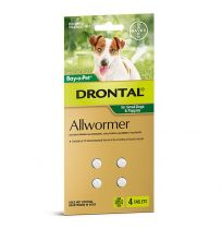 Drontal Allwormer For Small Dogs 4 Tablets
