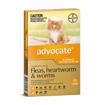 Advocate Small Cat 0 - 4kg Orange 3 Pack