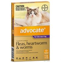 Advocate Large Cat 4kg+ Purple 3 Pack