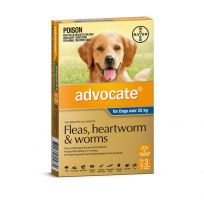 Advocate Extra Large Dog 25kg+ Blue 3 Pack