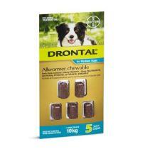 Drontal Medium Dog Allwormer 5 Chews